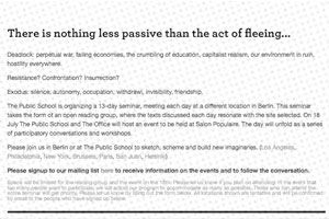 There is nothing less passive than the act of fleeing… thumbnail image